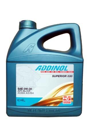 Моторное масло ADDINOL Superior 030 SAE 0W-30 (4л)