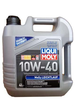 Полусинтетическое моторное масло LIQUI MOLY MoS2 Leichtlauf 10W-40 (4л.)