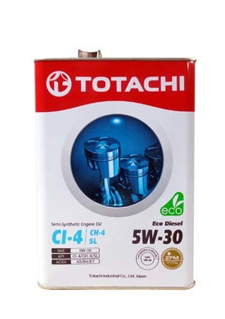 Моторное масло TOTACHI Eco Diesel Semi-Synthetic CI-4/CH-4/SL SAE 5W-30 (4л)