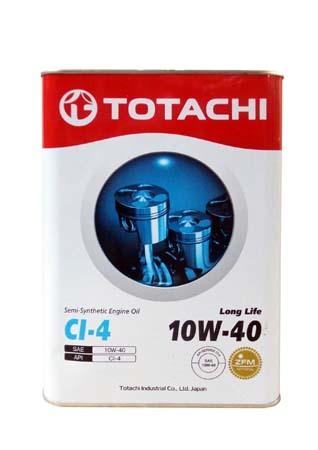 Моторное масло TOTACHI Long Life Semi-Synthetic CI-4 SAE 10W-40 (6л)