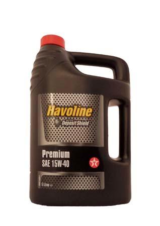 Моторное масло TEXACO Havoline Premium SAE 15W-40 (5л)