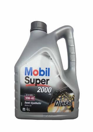 Моторное масло Mobil SUPER 2000 X1 Diesel, 10W-40, 4л