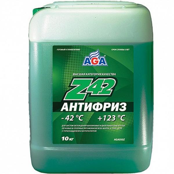 Антифриз AGA, зеленый, 10л, готовый, AGA050Z