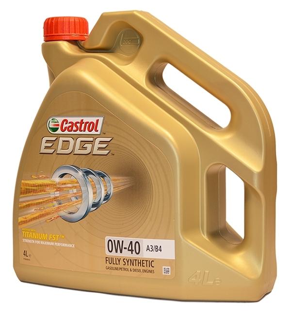 Моторное масло CASTROL EDGE A3/B4 TITANIUM FST, 0W-40, 4л, 156E8C
