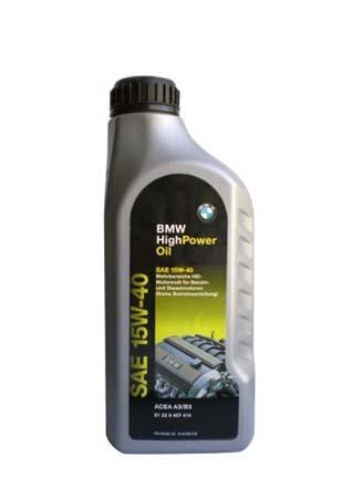 Моторное масло BMW High Power Oil, 15W-40, 1л, 81 22 9 407 414