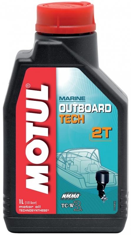 Моторное масло MOTUL Outboard TECH 2T, 1л, 102789