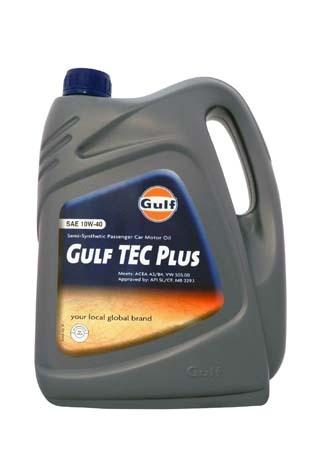 Моторное масло GULF TEC Plus SAE 10W-40 (4л)
