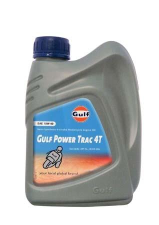 Моторное масло для 4-Такт двигателей GULF Power Trac 4T SAE 10W-40 (1л)