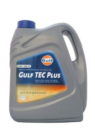 Моторное масло GULF TEC Plus SAE10W-40 (5л)