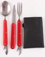 Набор складных столовых приборов Следопыт, в чехле (ложка, вилка, нож), PFCWSP51