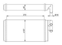Радиатор печки, NRF, 50602
