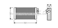 Радиатор печки, AVA, AI6052