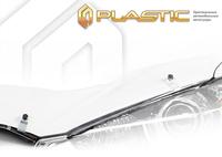 Дефлектор капота для RENAULT Logan (2010-2013), прозрачный, CA PLASTIC, 2010010203924