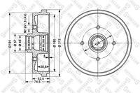 Тормозной барабан, STELLOX, 60254708SX