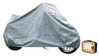 Чехол-тент на мотоцикл защитный, размер М (225х90х110см), цвет серый, универсальный, AIRLINE, ACMC05