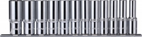 """Набор торцевых головок глубоких на держателе-рельс 1/2""""DR 10-24 мм., 12 предметов OMBRA 912112"""