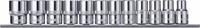 """Набор торцевых головок 12-гранных на держателе-рельс 1/2""""DR 10-24 мм., 12 предметов OMBRA 912312"""