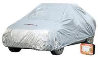 Чехол-тент на автомобиль защитный, размер S (455х186х120см), цвет серый, молния для двери, универсал