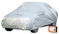Чехол-тент на автомобиль защитный, размер L (520х192х120см), цвет серый, молния для двери, универсал