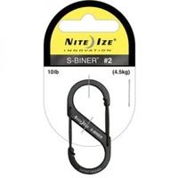 Карабин металлический NiteIze S-Biner, размер 1, черный