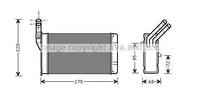 Радиатор печки, AVA, CN6055