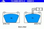 Колодки дисковые, ATE, 13046069132