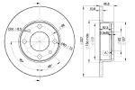 Диск тормозной передний, ICER, 78BD5812