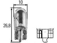Лампа, 12 В, 5 Вт, W5W, W2,1x9.5d, HELLA, 8GP 003 594-121