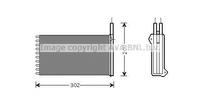 Радиатор печки, AVA, FD6154