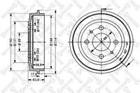 Тормозной барабан, STELLOX, 60252309SX