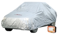 Чехол-тент на автомобиль защитный, размер M (495х195х120см), цвет серый, молния для двери, универсал